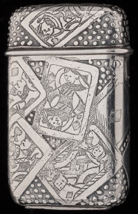 A TIFFANY & CO. SILVER MATCH SAFE, New York, New York, circa 1892-1902 Marks: TIFFANY & CO., MAKERS, STERLING...