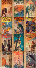 Books:Pulps, [Pulps]. Three Issues of Amazing Stories. 1934. Originalprinted wrappers, rebacked. Mild rubbing and edgewear. Very...(Total: 12 Items)