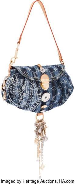 90f46dd9c79 ... Luxury Accessories:Bags, Louis Vuitton Limited Edition Monogram Denim  Pleaty Raye Judy BlameCharms Bag ...