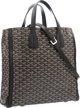 "Goyard Black Goyardine Canvas Voltaire Tote Bag Excellent Condition 15.5"" Width x 14.5"" Height x 5"" Depth..."