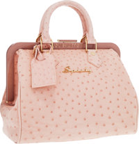 Louis Vuitton Limited Edition Pale Pink Ostrich Speedy Frame Bag by Richard Prince Very Good to Excellent Cond