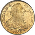 Chile, Chile: Charles IV gold 8 Escudos 1803/2 So-FJ MS62 NGC,...