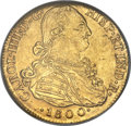 Colombia, Colombia: Charles IV gold 8 Escudos 1800 NR-JJ MS63 NGC,...