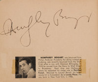 A Humphrey Bogart, Grace Kelly, Groucho Marx, and Others Signed Autograph Book, 1950s