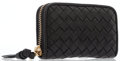 Luxury Accessories:Bags, Bottega Veneta Black Nappa Intrecciato Leather Coin Purse with GoldHardware. ...