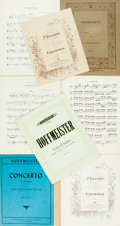 Books:Music & Sheet Music, [Sheet Music]. Seven Pieces of Sheet Music. Includes two by Hoffmeister, two by Ippolitow-Iwanow and one by Inghelbrecht. Va... (Total: 4 Items)