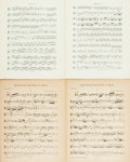 Books:Music & Sheet Music, [Sheet Music]. Antonin Dvorak. Two Pieces of Sheet Music. Various publishers, 1894, 1950. One with printed wrappers. Some to... (Total: 2 Items)