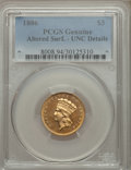 Three Dollar Gold Pieces, 1886 $3 -- Altered Surfaces -- PCGS Genuine. Unc Details....
