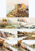Miscellaneous:Postcards, [Postcards]. Group of Eight Postcards Depicting British PastoralLandscapes. Various publishers and dates. Ca. early 190...