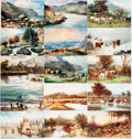 Miscellaneous:Postcards, [Postcards]. Group of Fifteen Postcards Depicting British Coastaland Rural Scenes. Raphael Tuck & Sons, ca. early 1900s. Ei...