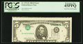 Error Notes:Inverted Third Printings, Fr. 1979-B $5 1988 Federal Reserve Note. PCGS Extremely Fine45PPQ.. ...