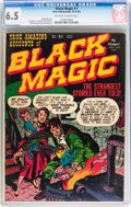 Golden Age (1938-1955):Horror, Black Magic #1 (Prize, 1950) CGC FN+ 6.5 Off-white to whitepages....