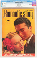 Golden Age (1938-1955):Romance, Romantic Story #1 Crowley Copy pedigree (Fawcett Publications,1949) CGC NM- 9.2 Off-white pages....