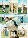 Miscellaneous:Postcards, [Postcards]. Group of Nine Postcards Depicting Military Sweetheartsof WWI. Various publishers. Ca. 1910s. Two unused. Very ...