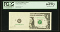 Error Notes:Inking Errors, Fr. 1915-F $1 1988A Federal Reserve Note. PCGS Gem New 66PPQ.. ...