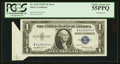 Error Notes:Foldovers, Fr. 1614 $1 1935E Silver Certificate. PCGS Choice About New 55PPQ.....