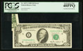 Error Notes:Foldovers, Fr. 2027-I $10 1985 Federal Reserve Note. PCGS Extremely Fine40PPQ.. ...