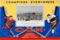 Hockey Collectibles:Others, 1933-34 Detroit Red Wings CCM Advertising Sign....