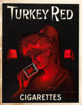 Baseball Collectibles:Others, 1910's Turkey Red Cigarettes Advertising Sign....
