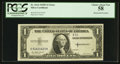 Error Notes:Obstruction Errors, Fr. 1614 $1 1935E Silver Certificate. PCGS Choice About New 58.....