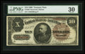 Large Size:Treasury Notes, Fr. 366 $10 1890 Treasury Note PMG Very Fine 30.. ...