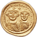 Ancients:Byzantine, Ancients: Heraclius (AD 610-641), with Heraclius Constantine (AD 613-641). AV solidus (22mm, 4.50 gm, 6h)....