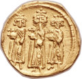 Ancients:Byzantine, Ancients: Heraclius (AD 610-641), with Heraclius Constantine (AD613-641) and Heraclonas (AD 638-641). AV solidus (21mm, 4.31 gm,6h)....