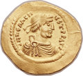 Ancients:Byzantine, Ancients: Heraclius (AD 610-641). AV semissis (20mm, 2.17 gm,6h). ...