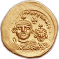 Ancients:Byzantine, Ancients: Heraclius (AD 610-641), with Heraclius Constantine (AD613-641). AV solidus (21mm, 4.49 gm, 7h)....