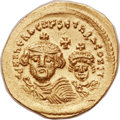 Ancients:Byzantine, Ancients: Heraclius (AD 610-641), with Heraclius Constantine (AD613-641). AV solidus (21mm, 4.40 gm, 7h). ...