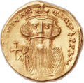 Ancients:Byzantine, Ancients: Constans II Pogonatus (AD 641-668). AV solidus (21mm,4.27 gm, 6h)....