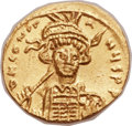 Ancients:Byzantine, Ancients: Constantine IV (AD 668-685). AV solidus (19mm, 4.43 gm,6h)....