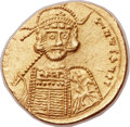 Ancients:Byzantine, Ancients: Constantine IV (AD 668-685). AV solidus (21mm, 4.21 gm,6h)....