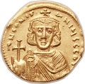 Ancients:Byzantine, Ancients: Constantine IV (AD 668-685). AV solidus (21mm, 4.42 gm, 6h). ...