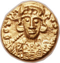 Ancients:Byzantine, Ancients: Constantine IV (AD 668-685). AV solidus (12mm, 4.31 gm, 6h)....