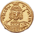 Ancients:Byzantine, Ancients: Constantine IV (AD 668-685). AV solidus (21mm, 4.42 gm,6h)....