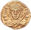 Ancients:Byzantine, Ancients: Tiberius III Apsimar (AD 698-705). AV tremissis (13mm,1.32 gm, 6h)....