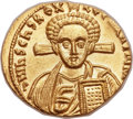 Ancients:Byzantine, Ancients: Justinian II Rhinotmetus, second reign (AD705-711). AV solidus (20mm, 4.37 gm, 6h). ...