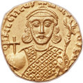 Ancients:Byzantine, Ancients: Philippicus (Bardanes) (AD 711-713). AV Solidus (19mm, 4.32 gm, 7h)....