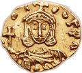 Ancients:Byzantine, Ancients: Leo III the Isaurian (AD 717-741), with Constantine V (AD720-775). AV tremissis (14mm, 1.25 gm, 6h)....