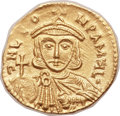 Ancients:Byzantine, Ancients: Leo III the Isaurian (AD 717-741), with Constantine V (AD720-775). AV semissis (18mm, 2.17 gm, 6h)....