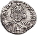 Ancients:Byzantine, Ancients: Leo III the Isaurian (AD 717-741), with Constantine V (AD720-775). EL solidus (21mm, 4.08 gm, 6h)....