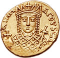 Ancients:Byzantine, Ancients: Constantine VI and Irene (AD 780-797). AV solidus(20mm, 4.38 gm, 6h)....