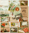 "Books:Americana & American History, [19th Century Illustration] Lot of Nineteen 19th Century Rewards ofMerit Cards. Various sizes from 3.5"" x 2.5"" to 3.5"" x 5...."