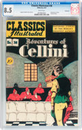 Golden Age (1938-1955):Classics Illustrated, Classics Illustrated #38 Adventures of Cellini - First edition -Vancouver pedigree (Gilberton, 1947) CGC VF+ 8.5 White pages....