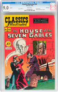 Golden Age (1938-1955):Classics Illustrated, Classics Illustrated #52 The House of the Seven Gables - Firstedition - Vancouver pedigree (Gilberton, 1948) CGC VF/NM 9.0 Wh...