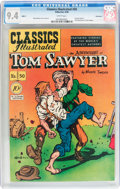 Golden Age (1938-1955):Miscellaneous, Classics Illustrated #50 The Adventures of Tom Sawyer - First edition 1A - Vancouver pedigree (Gilberton, 1948) CGC NM 9.4 Whi...