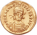 Ancients:Byzantine, Ancients: Anastasius I (AD 491-518). AV solidus (20mm, 4.41 gm,5h). ...