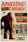 Silver Age (1956-1969):Science Fiction, Amazing Adult Fantasy #7 (Marvel, 1961) Condition: VG/FN....