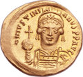 Ancients:Byzantine, Ancients: Justinian I the Great (AD 527-565). AV solidus (21mm,4.38 gm, 6h). ...